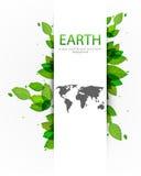 διάνυσμα περιγραμμάτων φύσης γήινων χαρτών ανασκόπησης Στοκ Φωτογραφίες
