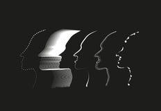 Διάνυσμα περιλήψεων πέντε προσώπου Στοκ εικόνες με δικαίωμα ελεύθερης χρήσης