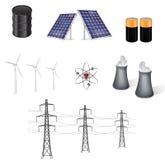 διάνυσμα πηγών ενεργειακής απεικόνισης Στοκ Εικόνες
