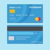 Διάνυσμα πιστωτικών καρτών διανυσματική απεικόνιση