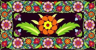 διάνυσμα πλαισίων λουλουδιών Στοκ Φωτογραφία