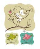διάνυσμα πουλιών Απεικόνιση αποθεμάτων
