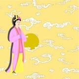 Διάνυσμα που τίθεται για τις κινεζικές γυναίκες ελεύθερη απεικόνιση δικαιώματος