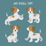 Διάνυσμα που τίθεται με τα χαριτωμένα κουτάβια σκυλιών κινούμενων σχεδίων Στοκ φωτογραφίες με δικαίωμα ελεύθερης χρήσης