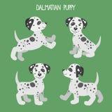 Διάνυσμα που τίθεται με τα χαριτωμένα κουτάβια σκυλιών κινούμενων σχεδίων Στοκ Εικόνες