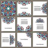 Διάνυσμα που τίθεται με το mandala Αφηρημένη διακόσμηση κύκλων υποβάθρου διακοσμητικό στοιχείο &alpha Κάρτα πρόσκλησης στο γάμο,  Στοκ φωτογραφίες με δικαίωμα ελεύθερης χρήσης