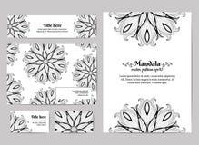 διάνυσμα προτύπων επιχειρησιακής εταιρικό ταυτότητας έργων τέχνης Επαγγελματική κάρτα, πρόσκληση, φάκελος και έμβλημα Floral σχέδ διανυσματική απεικόνιση