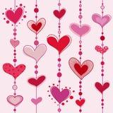 διάνυσμα προτύπων καρδιών απεικόνιση αποθεμάτων