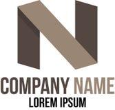 Διάνυσμα προτύπων λογότυπων Ν Στοκ φωτογραφία με δικαίωμα ελεύθερης χρήσης