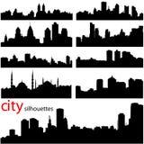 διάνυσμα πόλεων ανασκόπησ& Στοκ φωτογραφία με δικαίωμα ελεύθερης χρήσης