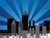 διάνυσμα πόλεων απεικόνιση αποθεμάτων