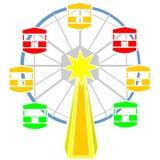 Διάνυσμα ροδών Ferris διανυσματική απεικόνιση