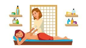 Διάνυσμα σαλονιών Wellness μασάζ SPA Anti Aging Spa μασάζ ελεύθερη απεικόνιση δικαιώματος