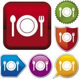 διάνυσμα σειράς εικονιδίων τροφίμων Στοκ εικόνα με δικαίωμα ελεύθερης χρήσης