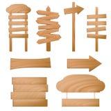 διάνυσμα σημαδιών ξύλινο Στοκ Εικόνες