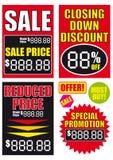 διάνυσμα σημαδιών πώλησης &al Στοκ εικόνα με δικαίωμα ελεύθερης χρήσης