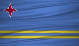 διάνυσμα σημαιών του Aruba Διανυσματική σημαία του Aruba blowig στον αέρα απεικόνιση αποθεμάτων