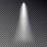 Διάνυσμα σκηνικών ελαφριών ακτίνων Διαφανής επίδραση επικέντρων που απομονώνεται στο σκοτεινό υπόβαθρο Λάμψτε σημείο ελαφρύ δ ελεύθερη απεικόνιση δικαιώματος