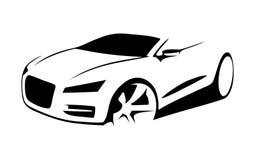 Διάνυσμα σκιαγραφιών αυτοκινήτων Στοκ φωτογραφία με δικαίωμα ελεύθερης χρήσης