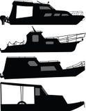 Διάνυσμα σκιαγραφιών βαρκών Στοκ εικόνα με δικαίωμα ελεύθερης χρήσης
