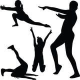 Διάνυσμα σκιαγραφιών γυμναστικής Στοκ φωτογραφίες με δικαίωμα ελεύθερης χρήσης