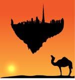 διάνυσμα σκιαγραφιών νησιών πετάγματος του Ντουμπάι Στοκ φωτογραφίες με δικαίωμα ελεύθερης χρήσης