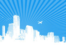 διάνυσμα σκιαγραφιών πόλε ελεύθερη απεικόνιση δικαιώματος