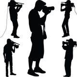 Διάνυσμα σκιαγραφιών φωτογράφων Στοκ φωτογραφία με δικαίωμα ελεύθερης χρήσης