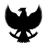 Διάνυσμα σκιαγραφιών Garuda Στοκ φωτογραφία με δικαίωμα ελεύθερης χρήσης