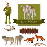 Διάνυσμα σκυλιών κυνηγιού διανυσματική απεικόνιση
