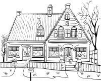 διάνυσμα σπίτι παλαιό Στοκ Εικόνες
