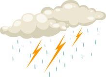 διάνυσμα σταγόνων βροχής Στοκ Φωτογραφία