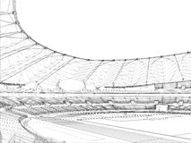 διάνυσμα σταδίων ποδοσφαίρου 14 ποδοσφαίρου Στοκ φωτογραφίες με δικαίωμα ελεύθερης χρήσης