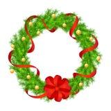 Διάνυσμα στεφανιών Χριστουγέννων Στοκ Εικόνες