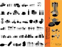 διάνυσμα συλλογής dishware Στοκ Εικόνα