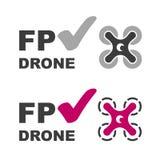 Διάνυσμα συμβόλων σημαδιών ελέγχου κηφήνων FPV Στοκ φωτογραφία με δικαίωμα ελεύθερης χρήσης