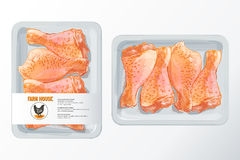 Διάνυσμα συσκευασίας πολυστυρολίου ποδιών κοτόπουλου Στοκ Εικόνα