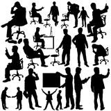 Διάνυσμα συλλογής σκιαγραφιών επιχειρηματιών Στοκ Εικόνες