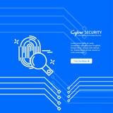 Διάνυσμα σχεδίου εμβλημάτων ασφάλειας Cyber Στοκ φωτογραφίες με δικαίωμα ελεύθερης χρήσης
