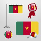 Διάνυσμα σχεδίου σημαιών του Καμερούν διανυσματική απεικόνιση