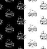 Διάνυσμα σχεδίων γρήγορου γεύματος γραπτό Στοκ φωτογραφίες με δικαίωμα ελεύθερης χρήσης
