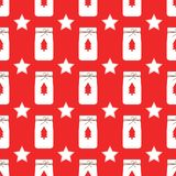 Διάνυσμα σχεδίων Χριστουγέννων στο κόκκινο υπόβαθρο ελεύθερη απεικόνιση δικαιώματος