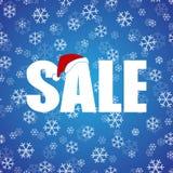 Διάνυσμα σχεδίου αφισών πώλησης έκπτωσης Χριστουγέννων Στοκ Εικόνα
