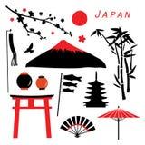 Διάνυσμα σχεδίου εικονιδίων ταξιδιού της Ιαπωνίας Στοκ φωτογραφία με δικαίωμα ελεύθερης χρήσης