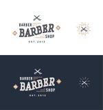 Διάνυσμα σχεδίου λογότυπων Barbershop Ελεύθερη απεικόνιση δικαιώματος