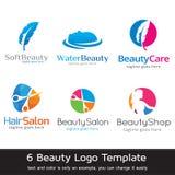 Διάνυσμα σχεδίου προτύπων λογότυπων ομορφιάς απεικόνιση αποθεμάτων