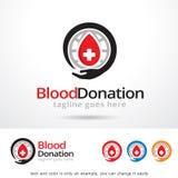 Διάνυσμα σχεδίου προτύπων λογότυπων δωρεάς αίματος ελεύθερη απεικόνιση δικαιώματος