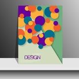 Διάνυσμα σχεδίου σχεδιαγράμματος κάλυψης περιοδικών Στοκ Εικόνες