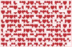 Διάνυσμα σχεδίων καρδιών Στοκ φωτογραφία με δικαίωμα ελεύθερης χρήσης