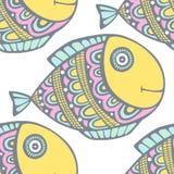 Διάνυσμα σχεδίων ψαριών Στοκ Φωτογραφίες